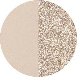 Les Georgettes 16 mm oorbellen inlay's creme gouden glitters