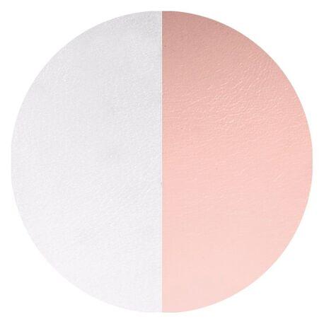 Les Georgettes 16 mm oorbellen inlay's grijs roze