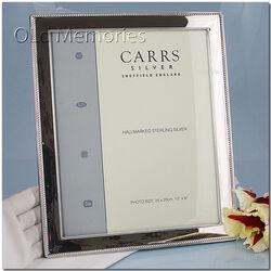 Zilveren fotolijst 25x20 Carrs met kabelrand