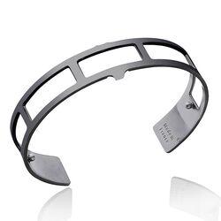 Les Georgettes Men 14 mm gezwarte armband Rectangles