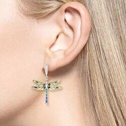Nicole Barr libellen oorhangers geel NW0354YA