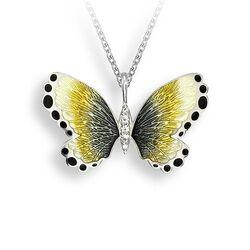 Nicole Barr butterfly hanger geel zwart wit saffier