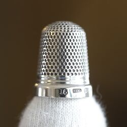 vingerhoed antiek zilver gemaakt in Birmingham in 1918