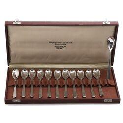 Strak design zilveren theelepels Gerritsen & van Kempen rond 1930
