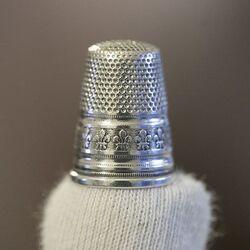 Oude zilveren vingerhoed, Duitsland rond 1900