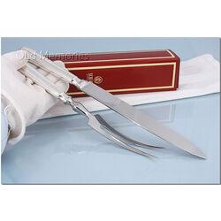 Zilver voorsnijcouvert model dubbelfilet Schiavon