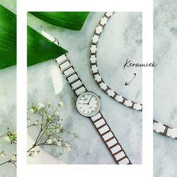 Boccia titanium horloge wit keramiek 3311-01