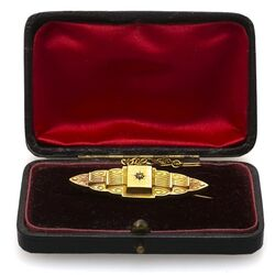 Antieke gouden broche Birmingham 1890
