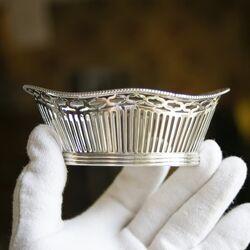 Antiek zilveren bonbonmandje Presburg en Hoogteiling Haarlem 1920