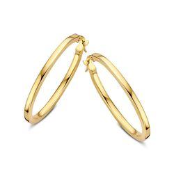 Ovale gouden creolen
