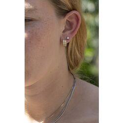 Gouden oorsteker bicolor steekcreolen