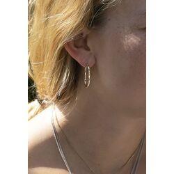 ovale geel gouden oorringen creolen