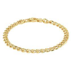 Geelgouden gourmet armband 19 cm lang 5,5 mm