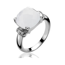 Zinzi ring wit Cat Eye en zirconia Zir489