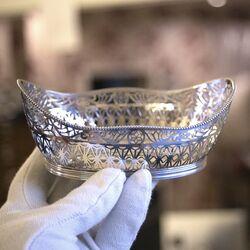 zilveren bonbonmand mooi uitgezaagd patroon Zilver.nl