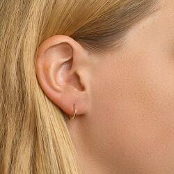 Geelgouden oorringen vierkante buis 10-16 mm