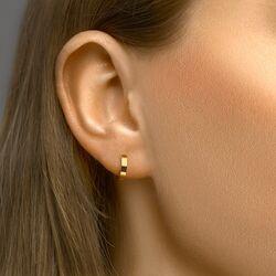 Strakke geelgouden oorringen 10-12 mm