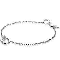 Zinzi zilveren armband rond wit zirkonia ZIA1830