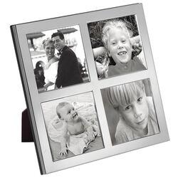 Carrs zilveren fotolijst voor 4 foto's 6 x 6 cm fr026/w