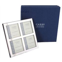 zilveren fotolijst voor 4 foto's Carrs