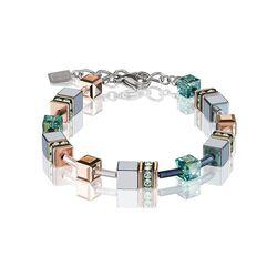 Coeur de Lion armband salie groen 4015-30-0532