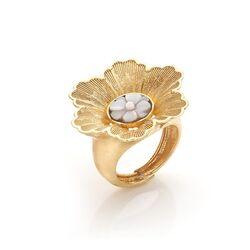 Diluca vergulde bloemen ring met camee A126-G