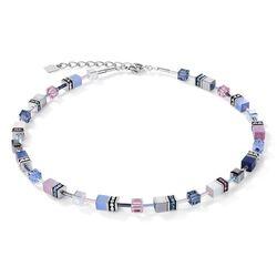 Coeur de Lion ketting blauw roze 2839-10-0719