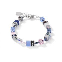 Coeur de Lion armband blauw roze 2839-30-0719