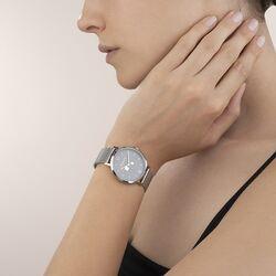 Coeur de Lion stalen horloge grijs 7600-70-1724
