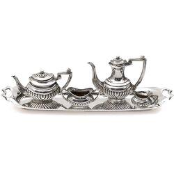 Miniatuur servies zilver birmingham 1907