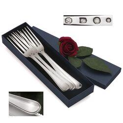 4 Zilveren tafelvorken antiekfilet H. Helweg