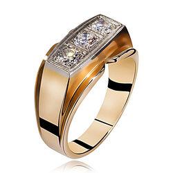 Rosegouden Ring 3 Briljanten