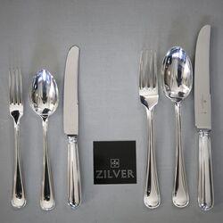 Kapitale bestek cassette model Princess zilver 12 persoons bestek van zilver bij Zilver.nl