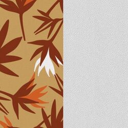 Les Georgettes 40 mm inlay paradijs vogel beige  wit