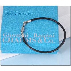 zwarte armband zilveren sluiting