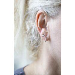 Elements Gold witgouden oorhangers met diamant