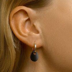 Geelgouden oorringen onyx