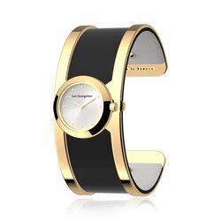 Les Georgettes 25 mm horloge set verguld Structure rond