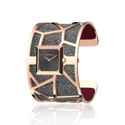 Les Georgettes rosé horlogeset girafe vierkante horlogekast