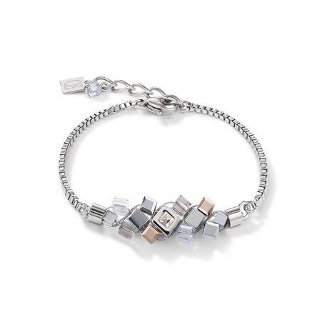 Coeur de Lion armband cluster kleur zilver roségoud
