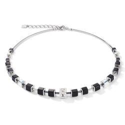 Coeur de Lion collier zwart met zilverkleur