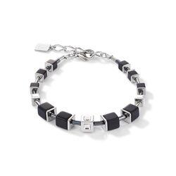 Coeur de Lion armband zwart zilverkleur