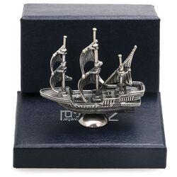 Zilveren miniatuur schip zeilboot zeilschip bij Zilver.nl