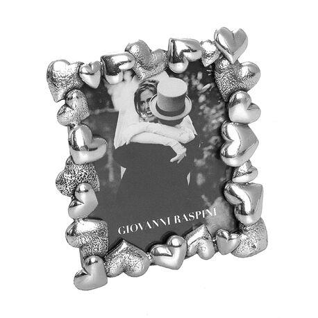 Zilveren fotolijstje 5x4 met hartjes van Raspini