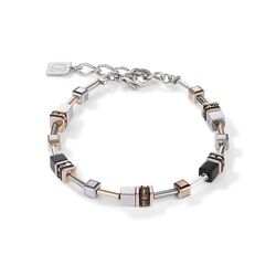 Coeur de Lion armband 5008-30-1632 multitask 4 in 1 rosé goud zilver