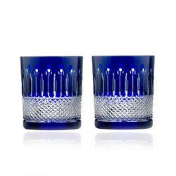 Faberge blauwe whiskey glazen stel