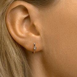 Roségouden oorstekers met zirkonia