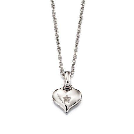 Little Star Bella harthanger zilver diamantje
