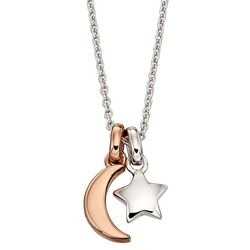 Little Star collier Collette maan en ster bicolor