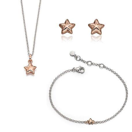 Little Star setje ster roséverguld